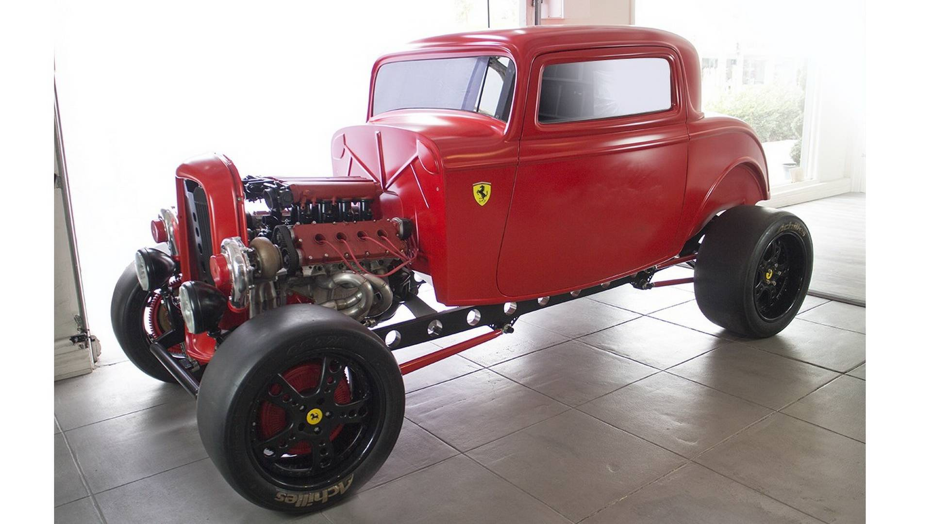 1932 Ford With 950 HP Biturbo Ferrari Engine Is Retro Crazy