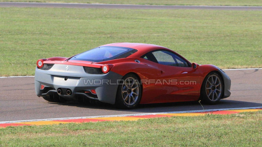 Ferrari 458 Challenge spied in the metal at Fiorano