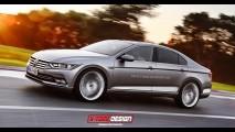 Projeção antecipa visual da próxima geração do Volkswagen CC