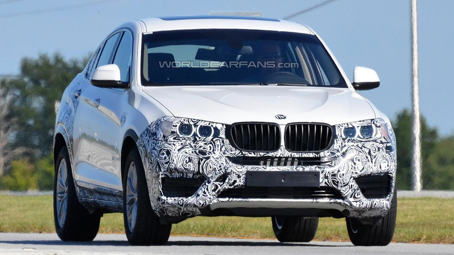 2014 BMW X4 returns with less camo in new spy pics