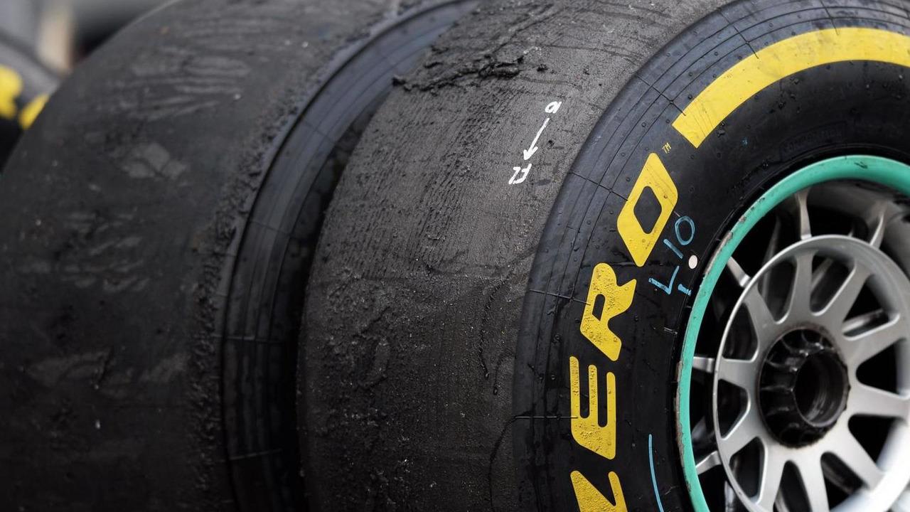 Worn Pirelli tires 27.10.2013 Indian Grand Prix
