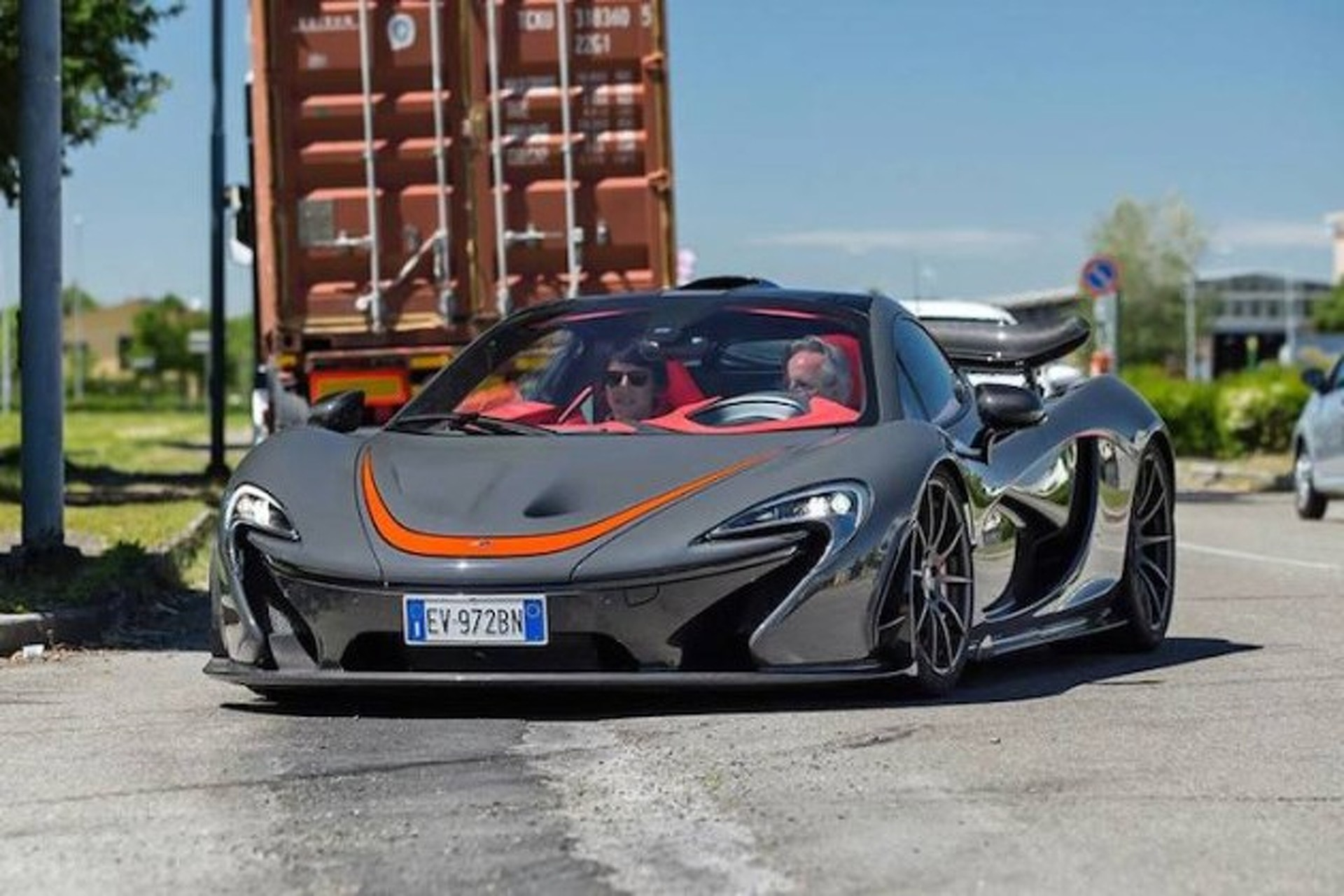 Horacio Pagani Caught Driving a McLaren P1 in Italy