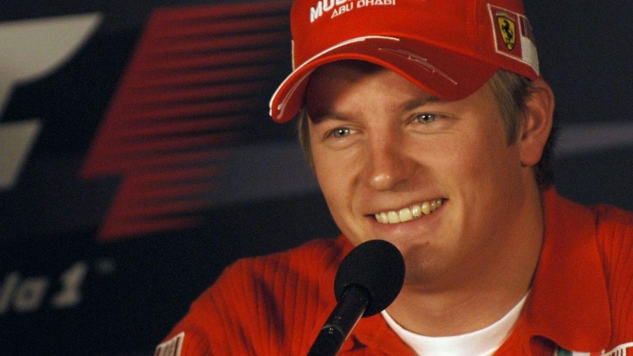 Kimi Raikkonen after winning his first F1 championship