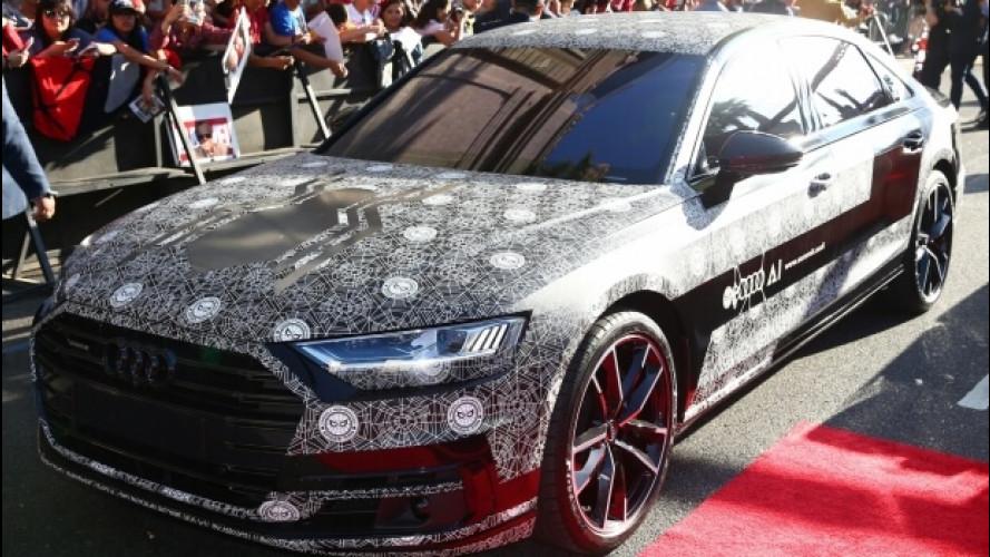 Nuova Audi A8, eccola sul red carpet di Spiderman: Homecoming
