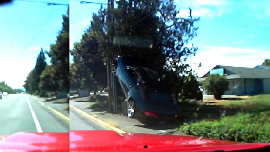 Bad Karma Strikes Black Camaro, Forces It To Do A Pole Dance