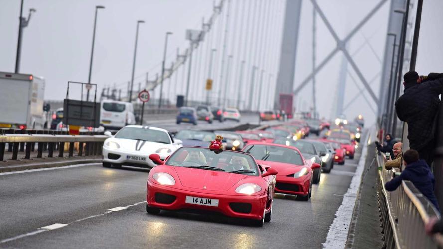 Ferrari Club Closes Famous Scottish Bridge For Anniversary Parade