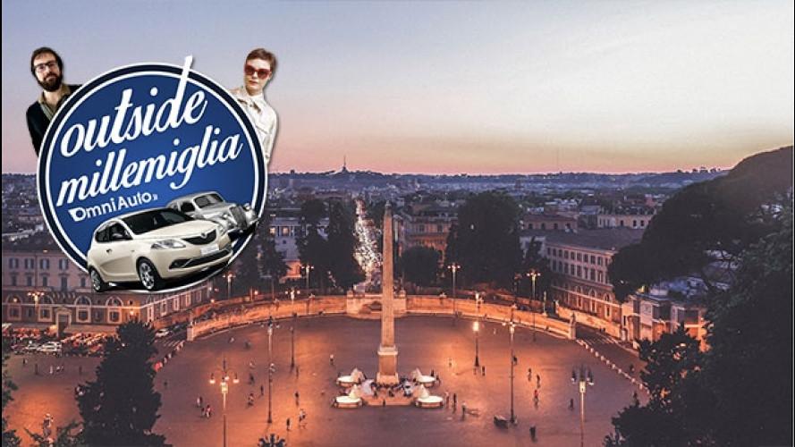 Outside Mille Miglia, la sfilata tra le bellezze di Roma! [VIDEO]