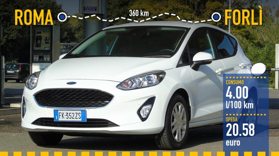 Ford Fiesta 1.0, la prova dei consumi reali