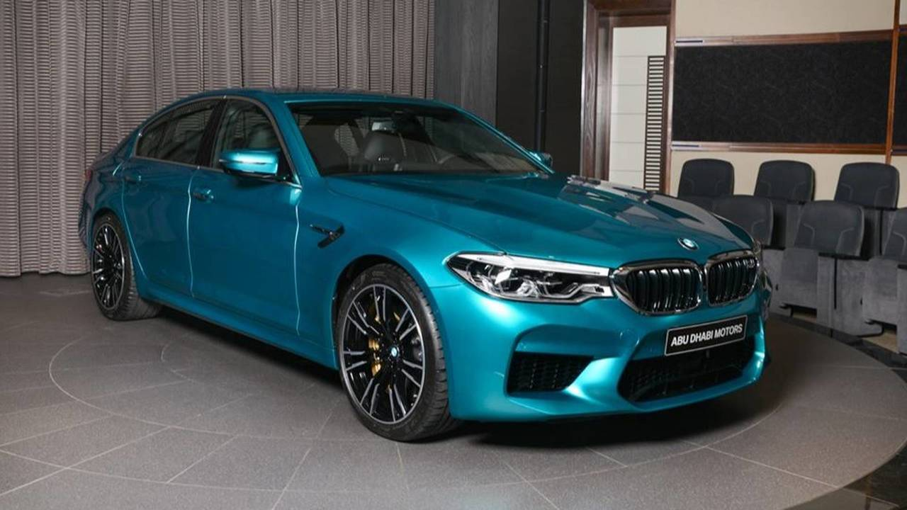 Dodge Demon Colors >> Beautiful BMW M5 In Snapper Rocks Blue Arrives At Abu ...