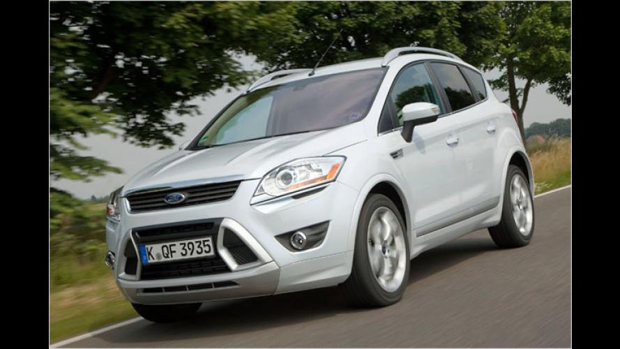 Ford Kuga mit neuem Topdiesel und Powershift-Getriebe