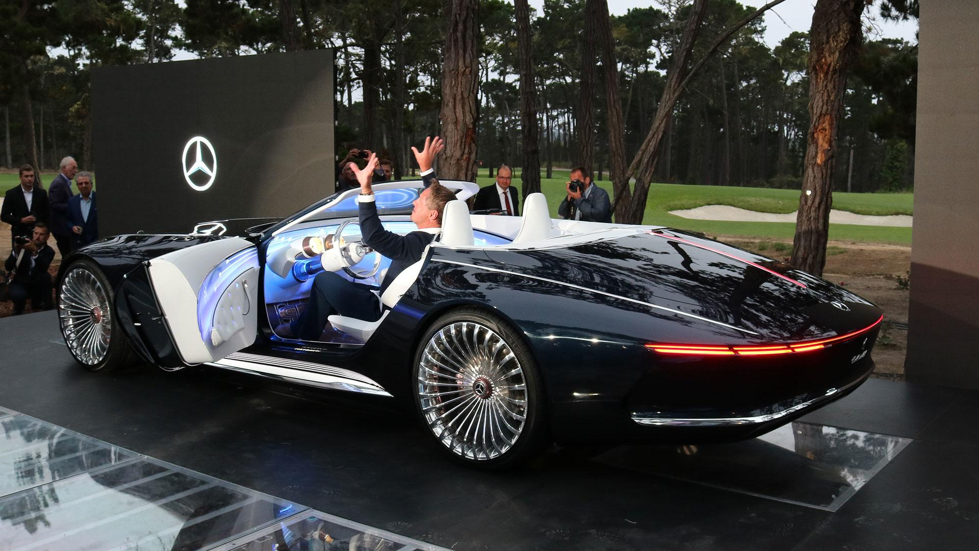 vision mercedes maybach 6 cabriolet is a gorgeous top down ev. Black Bedroom Furniture Sets. Home Design Ideas