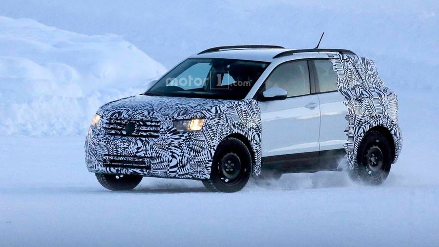 VW T-Cross Compact CUV Spied Looking Cold In Snowy Landscape