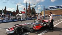 Heikki Kovalainen at Bavaria Moscow City Racing event