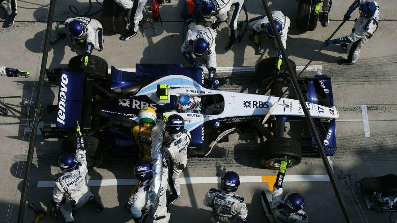 Alexander Wurz (AUT), Williams F1 Team, FW29 Pit Stop, Malaysian Grand Prix, Sunday Race, 08.04.2007 Kuala Lumpur, Malaysia