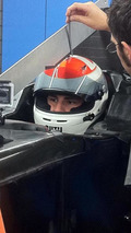 Adrian Sutil has seat fitting in 2014 Sauber