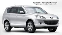 Peugeot 4007 Spy Illustration