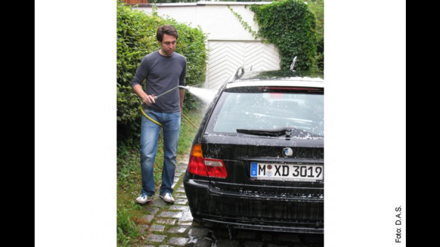 Autowäsche vor der eigenen Garage ist meist verboten