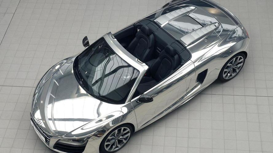 Audi R8 V10 Spyder gets chromed for charity
