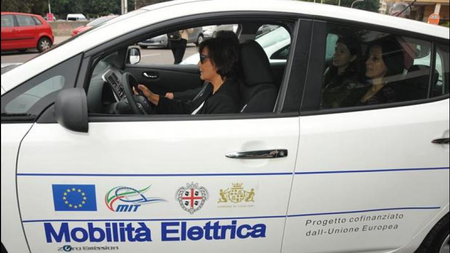 Le auto elettriche Nissan sono state arruolate dalla Regione Sardegna