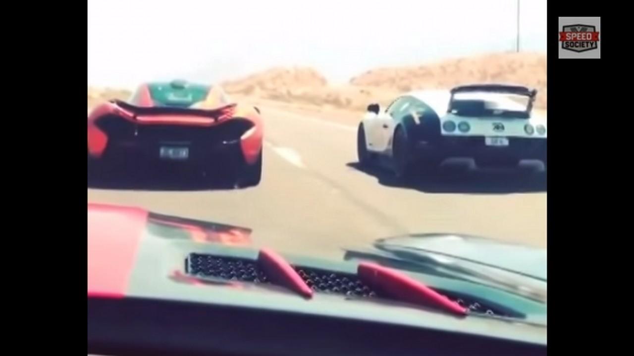Vídeo: veja racha entre o McLaren P1 e o Bugatti Veyron