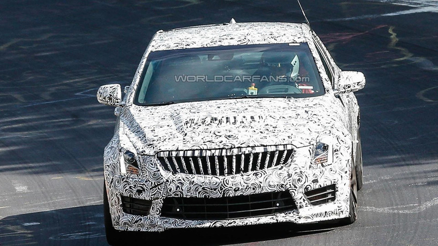 Cadillac ATS-V sedan spied on the Nurburgring