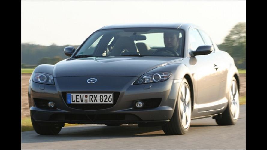 Knurriger Benzinoholiker: Der Mazda RX-8 dreht gewaltig auf