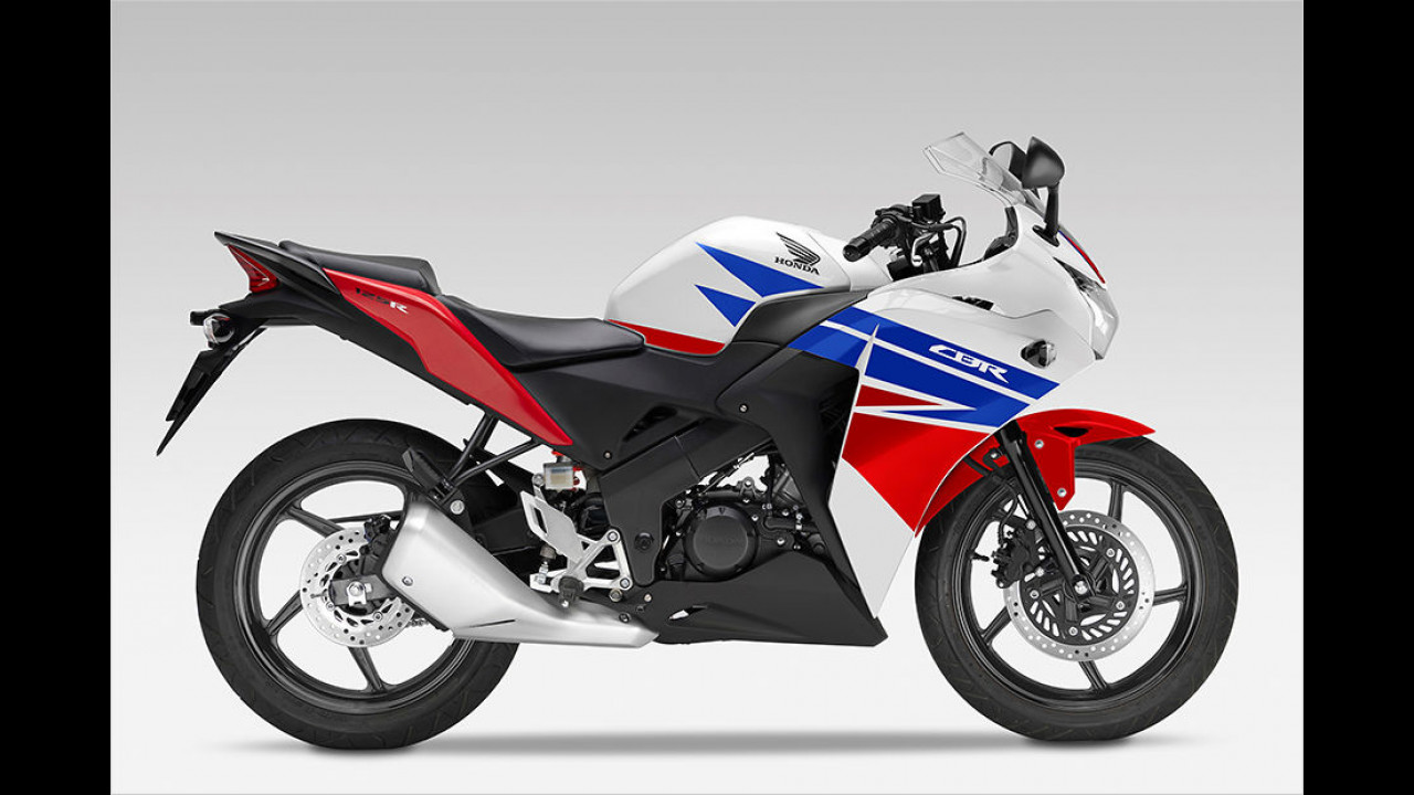 Platz 5: Honda CBR 125, 1.789 Euro