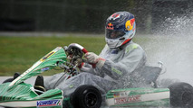 Sebastian Vettel driving Tony Kart EVK-RKF chassis at South Garda Karting circuit in Lonato Italy 28.04.2014