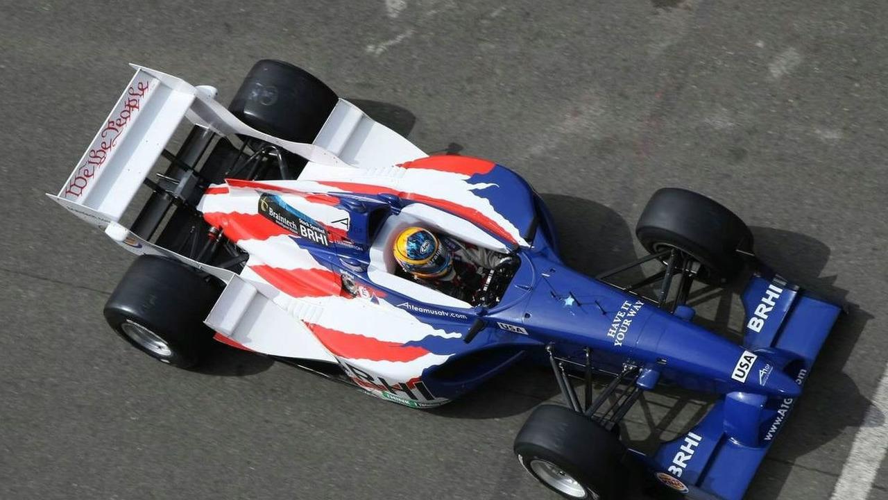 Jonathan Summerton (USA), driver of A1 Team USA, Brands Hatch, Saturday Qualifying, Fawkham, England, 03.05.2008