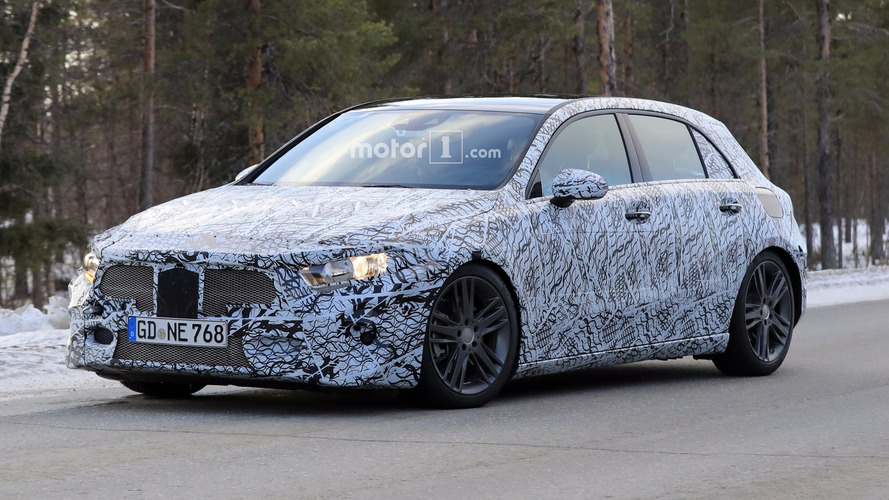 2018 Mercedes A-Class rides low in new spy shots