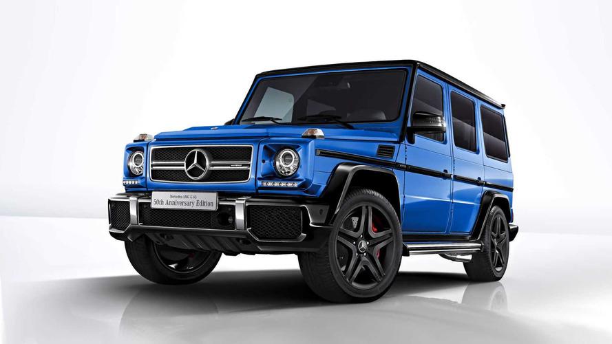 Mercedes G63'ün 50'inci yıl dönümü mavi ve siyahla kutlanıyor