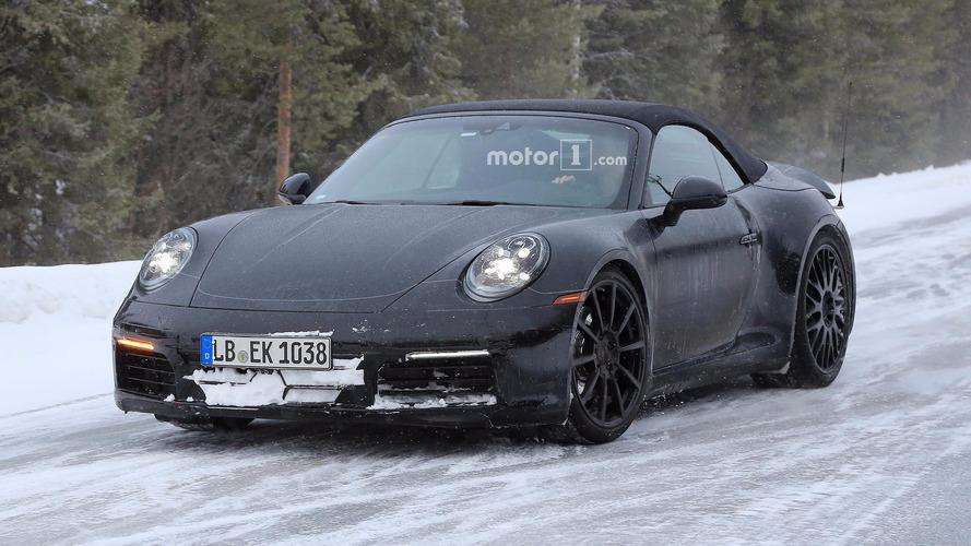 2019 Porsche 911 Cabrio kış testinde
