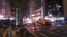 Un sinkhole en plein milieu de la chaussée à Fukuoka