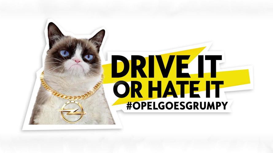 Opel présente Georgia May Jagger et Grumpy Cat dans son calendrier 2017
