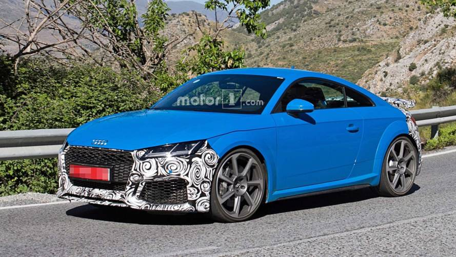 2019 Audi TT RS Facelift Spied On Vacation In Southern Europe