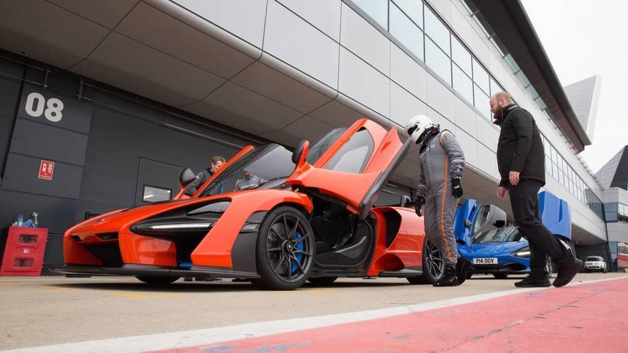 McLaren Senna: la prova in pista