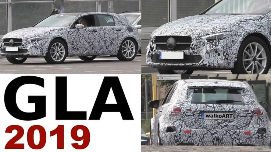 2020 Mercedes GLA screenshots from spy video