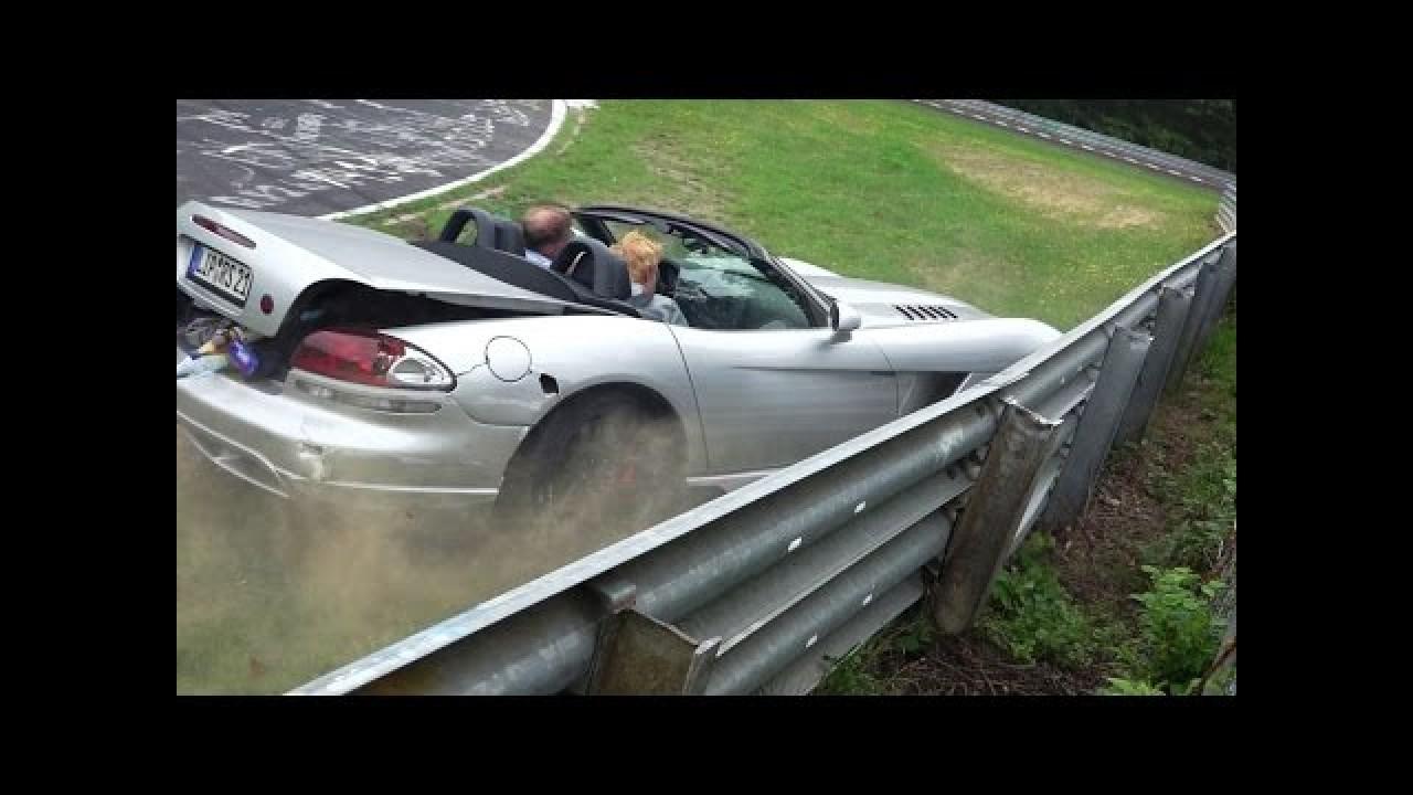 Nordschleife'da Dodge Viper ile kaza yapmak