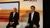McLaren Automotive Singapore press conference, Ron Dennis and Peter Lim, 22.09.2011