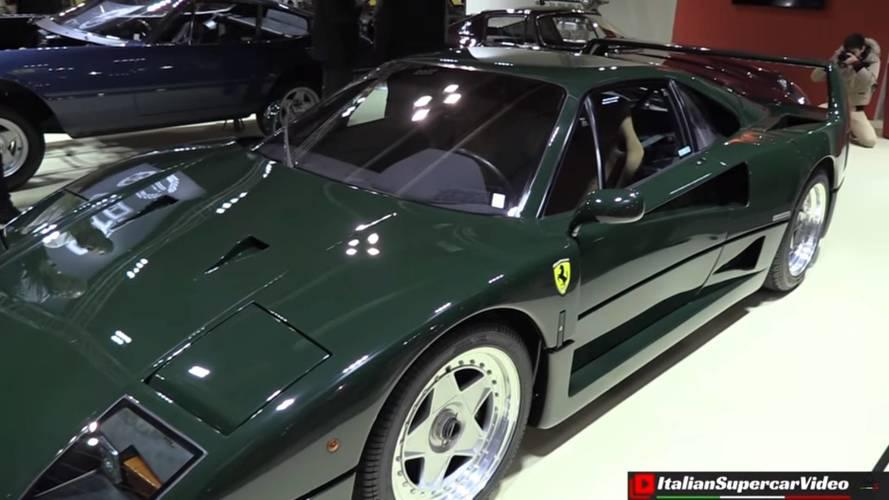 Un Ferrari F40 pintado en verde abeto, ¿genialidad o locura?