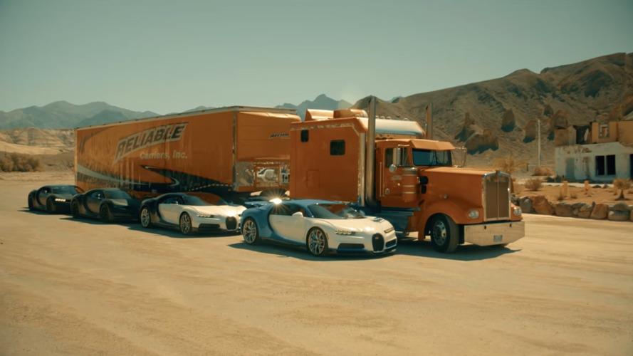 VIDÉO – Quand la Bugatti Chiron se teste dans le désert