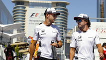 Fernando Alonso, McLaren and team-mate Jenson Button, McLaren