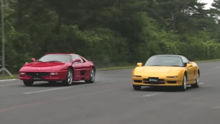 Acura NSX-R ve Ferrari F355'in drag yarışı bizi 1995 yılına geri götürüyor