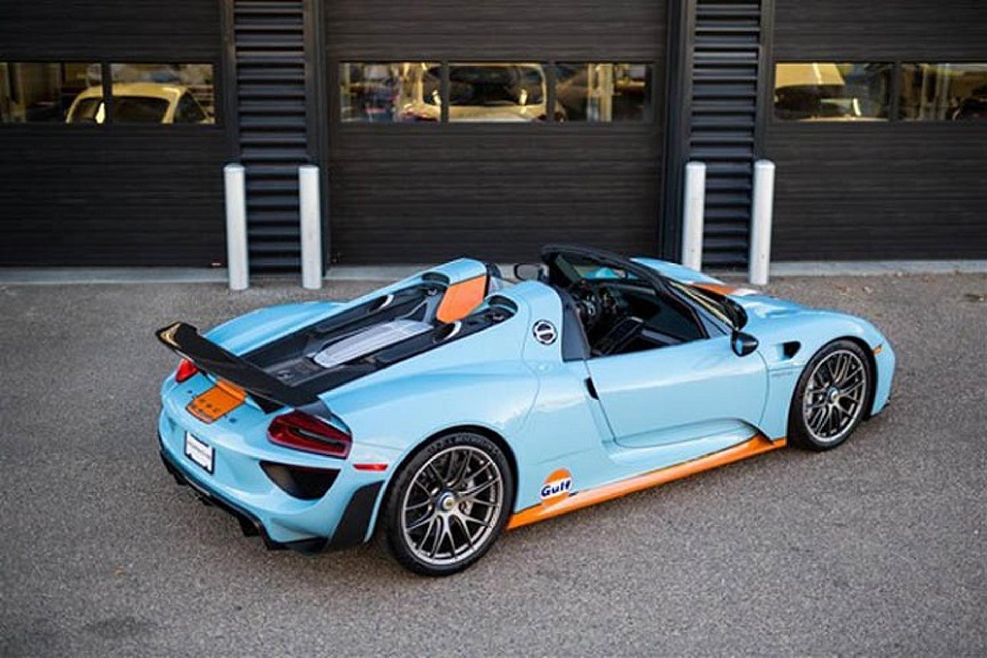 1-of-2 Gulf Liveried Porsche 918 Spyder Up For Sale