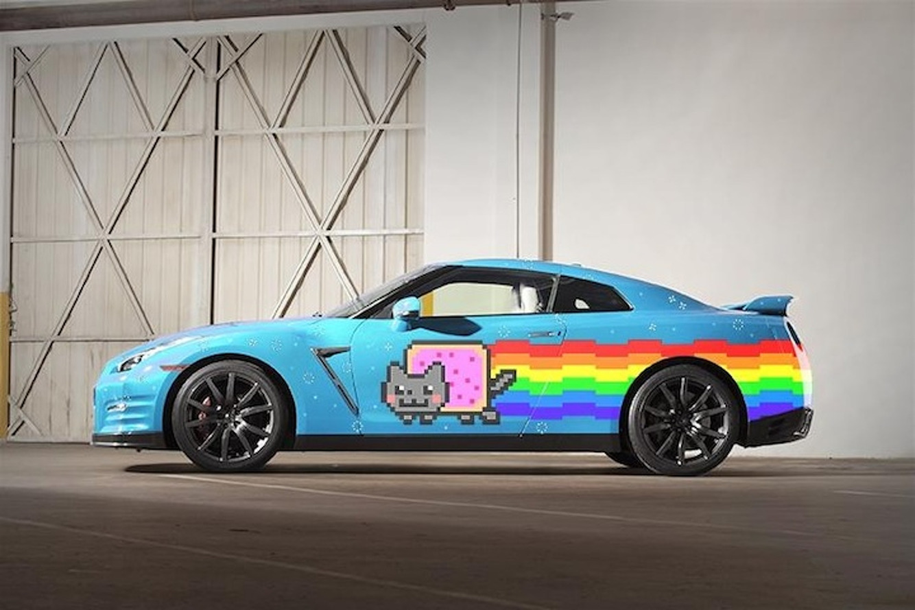 Nissan Pokes Fun at Ferrari with Nyan Cat GT-R