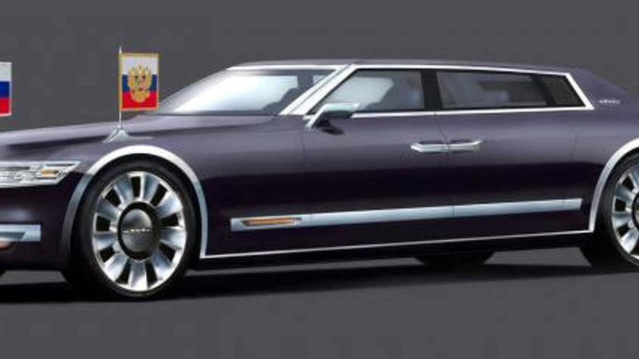 Russian presidential limo concept by Alexander Bukarev 25.2.2013