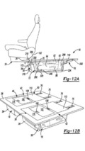 Chrysler Stow 'n Go seat patent photo