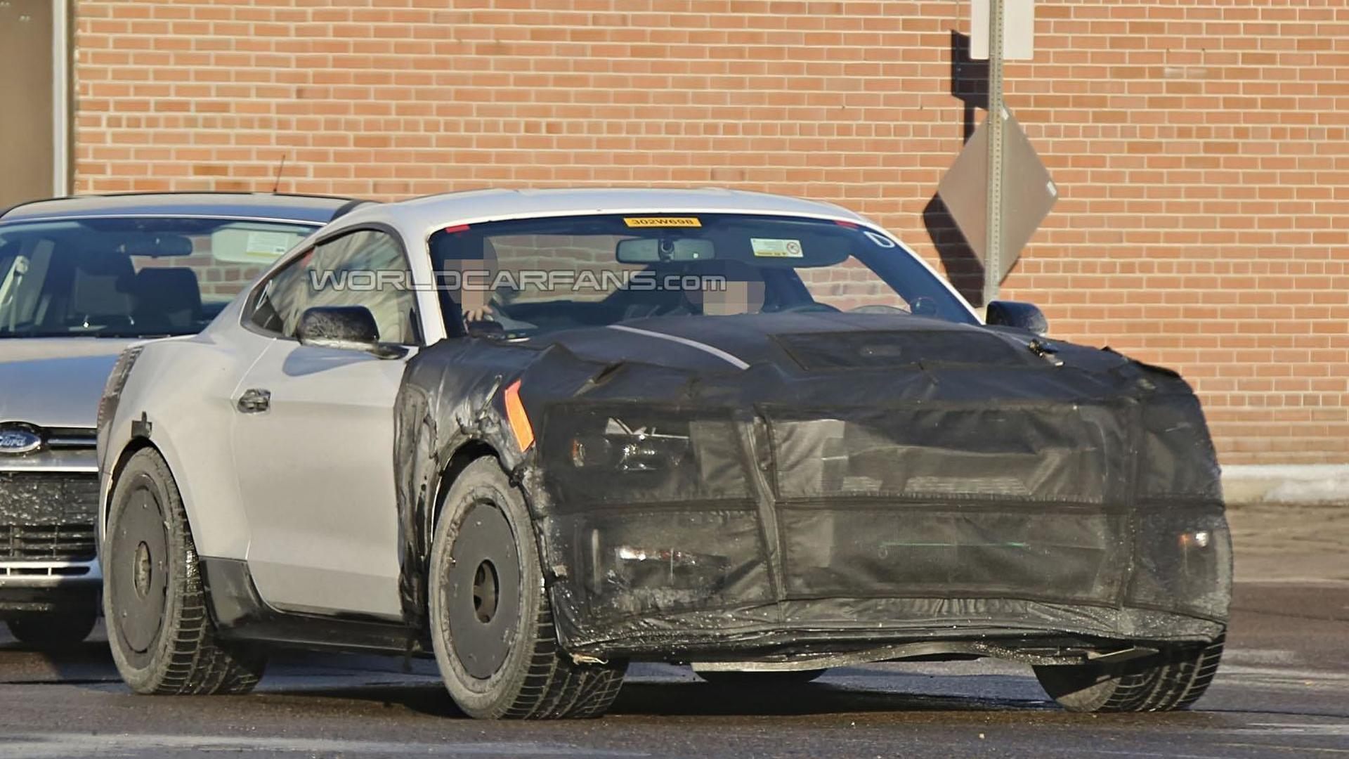 2016 Ford Mustang Shelby GT350 GT500 spied wearing less disguise