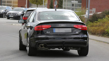 Next-gen Audi A4 chassis testing mule spied with raised suspension