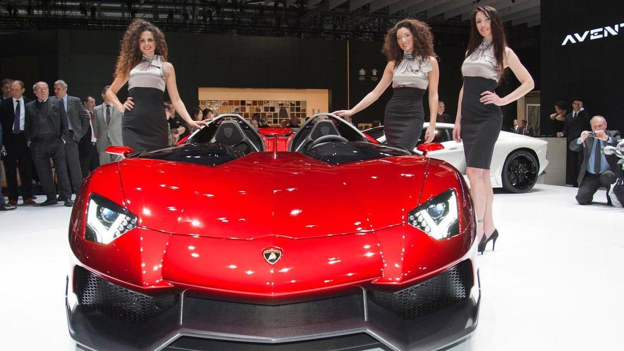 Lamborghini Aventador J live in Geneva 06.03.2012